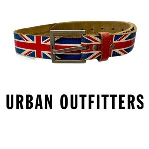 Urban Outfitters Distressed Union Jack Belt RARE